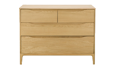 4 Drawer Low Wide Chest
